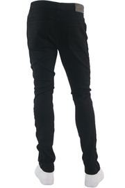 Ripped Crystal Stripe Denim Black - Black (CRYSTAL22S)