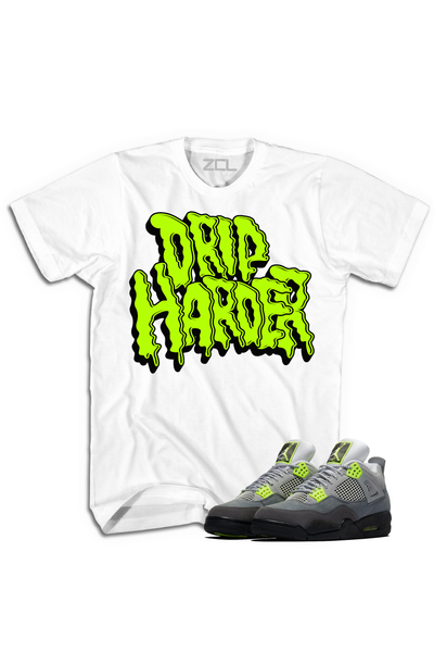 "Air Jordan 4 Neon ""Drip Harder"" Tee - Zamage"