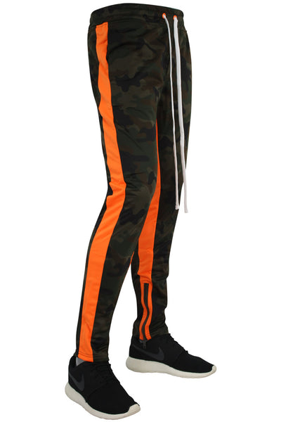 Dual Stripe Tricot Track Pants Camo - Orange (82-411)
