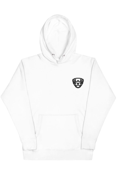Embroidered ZCL Logo Hoodie White - Zamage
