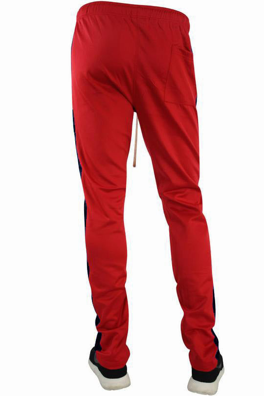 Stripe Track Pants Red - Black (FP800)