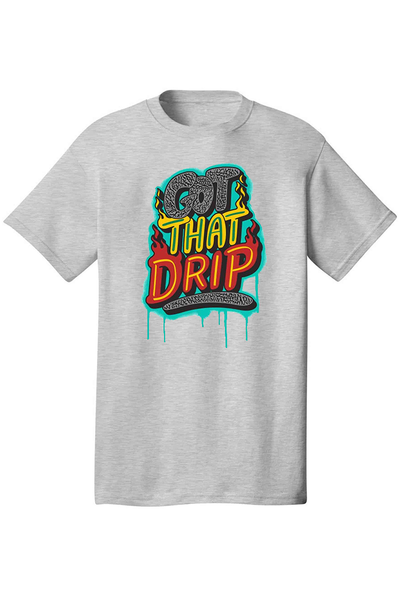 Got That Drip Tee Athletic Grey (DS5057) - Zamage