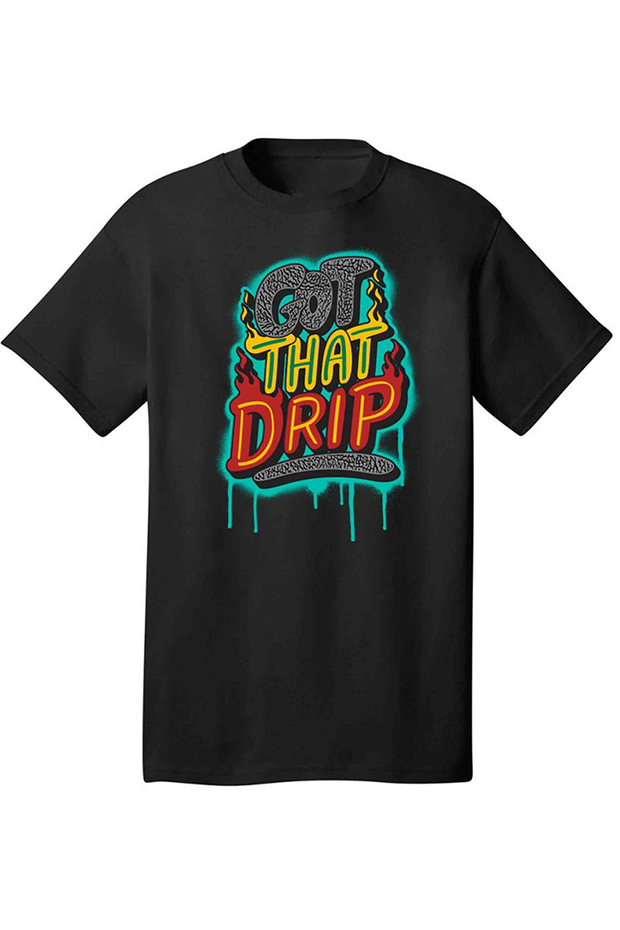 Got That Drip Tee Black (DS5057) - Zamage