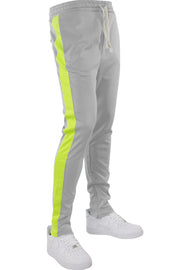 Side Stripe Track Pants Grey - Lime (HF9602)