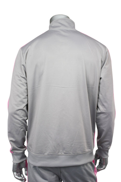 Striped Tricot Track Jacket Grey - Pink (82-311)