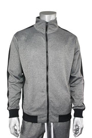 Side Stripe Track Jacket Marled Black (1915)