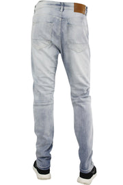Moto Washed Skinny Fit Denim Light Blue (M4506D) - Zamage