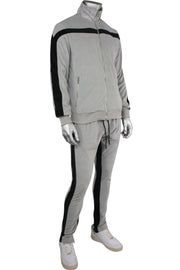 Jordan Craig Velour Track Jacket Grey (8309T 22S) - Zamage