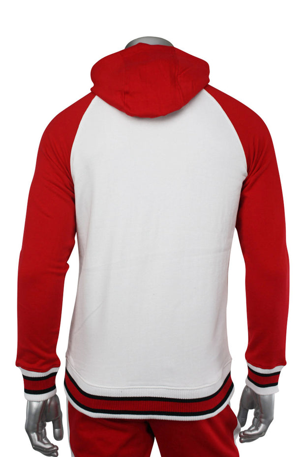Jordan Craig Color Block Track Hoodie Red - White (8327H 22S) - Zamage