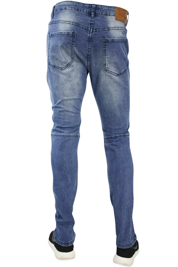 Moto Rip Skinny Fit Denim Medium Blue (M4323DA)