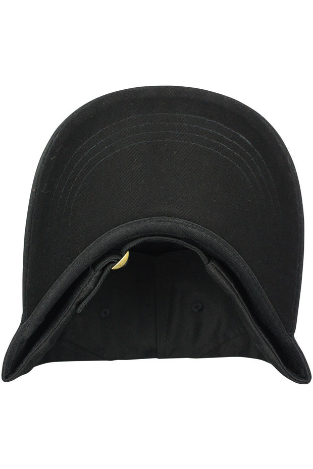 Peach Strapback Hat Black - Zamage