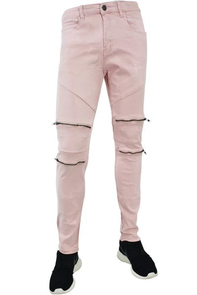 Twill Zip Slim Fit Denim Blush (M4421TB)