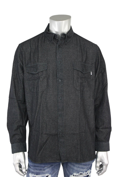 EPTM L/S Denim Side Zip Shirt Vintage Black (EP7628 22S) - Zamage