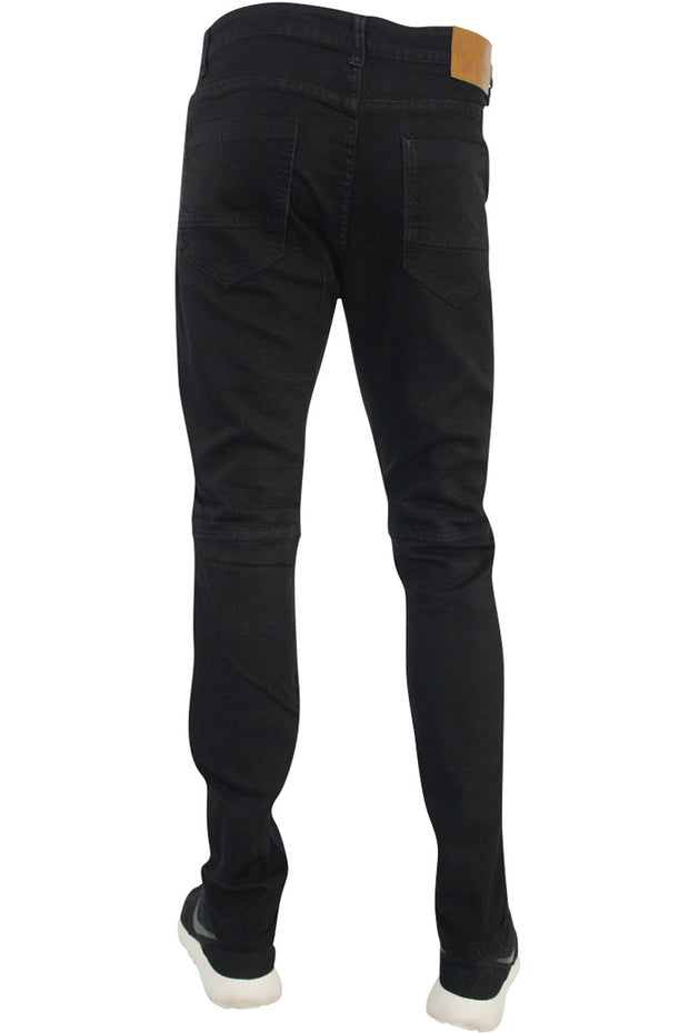 Full Moto Skinny Fit Denim Black (ROM4347DB)