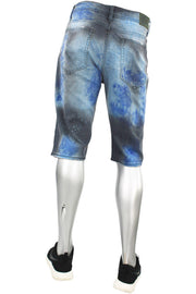 Jordan Craig Destroyed Paint Wash Denim Shorts Ocean Blue (J3049AS 22S)