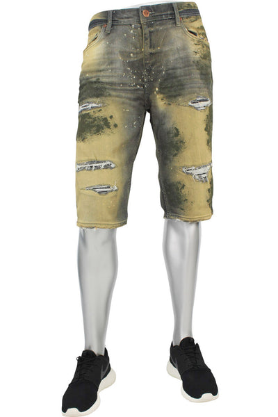 Jordan Craig Destroyed Paint Wash Denim Shorts Rebel Army (J3049AS 22S)