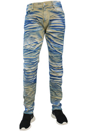 Jordan Craig Coated Pannel Slim Fit Denim Horizon Blue (JM3142 22S) - Zamage