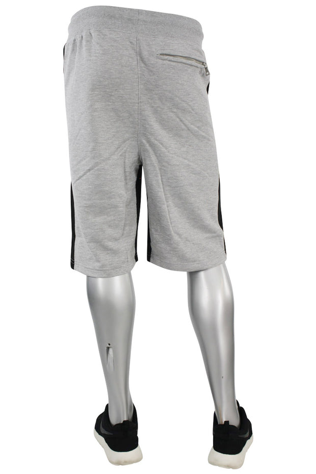 Jordan Craig Color Block Fleece Track Shorts Heather Grey - Black (8291S)