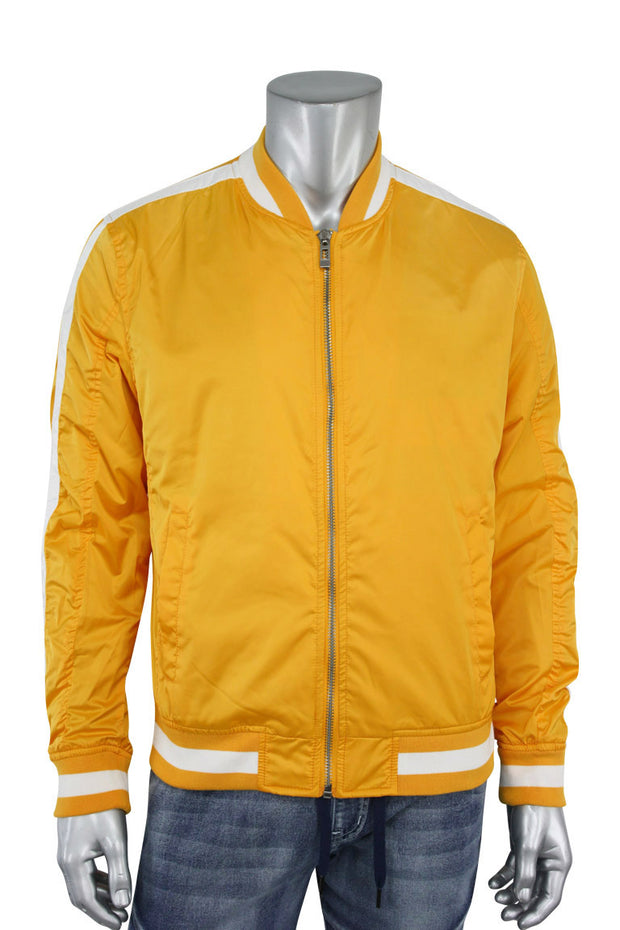 Jordan Craig Contrast Bomber Jacket Laser Orange (91358) - Zamage