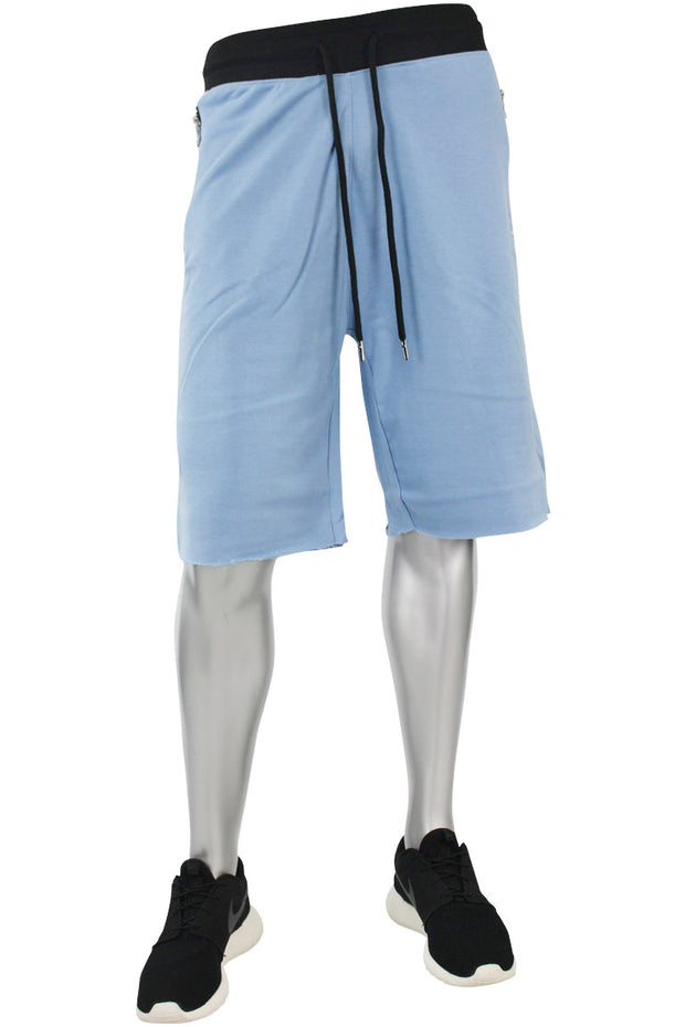 Jordan Craig French Terry Shorts Baby Blue - Black (8290S)