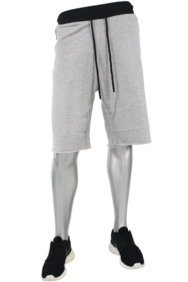 Jordan Craig French Terry Shorts Heather Grey - Black (8290S)