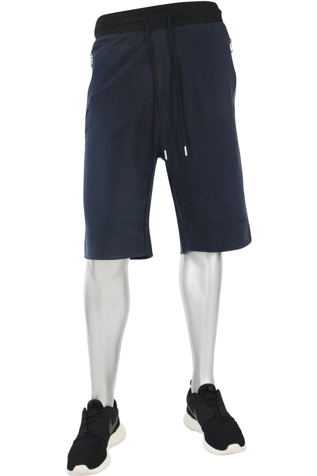 Jordan Craig French Terry Shorts Navy - Black (8290S)