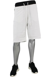 Jordan Craig French Terry Shorts White - Black (8290S)