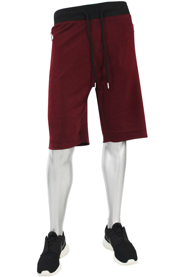 Jordan Craig French Terry Shorts Wine - Black (8290S)