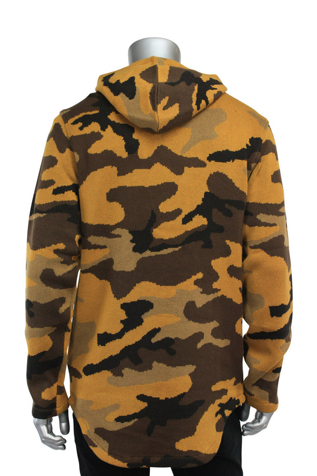 Jordan Craig Intarsia Camo Sweater Wheat (39265 22S) - Zamage