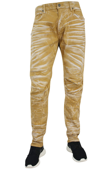 Jordan Craig Laser Washed Slim Fit Denim Summer Wheat (JM3143 22S) - Zamage