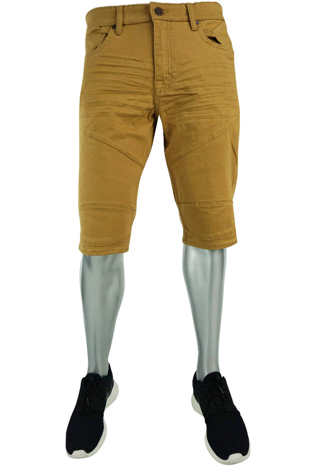 Jordan Craig Moto Denim Short Wheat (J698S 22S) - Zamage