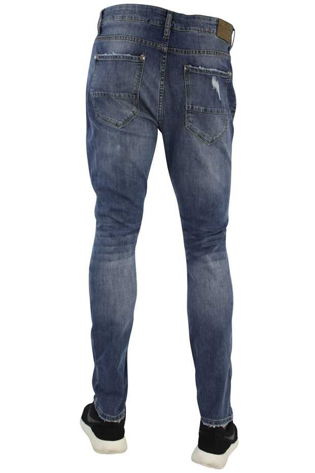 Jordan Craig Open Shred Slim Fit Denim Aged Wash (JM3146 22S) - Zamage