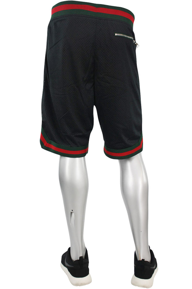 Jordan Craig Poly Mesh Shorts Black - Green (8289S)