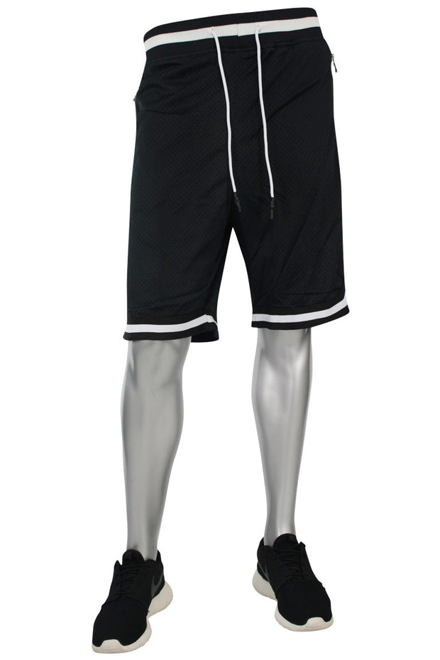 Jordan Craig Poly Mesh Shorts Black - White (8289S)