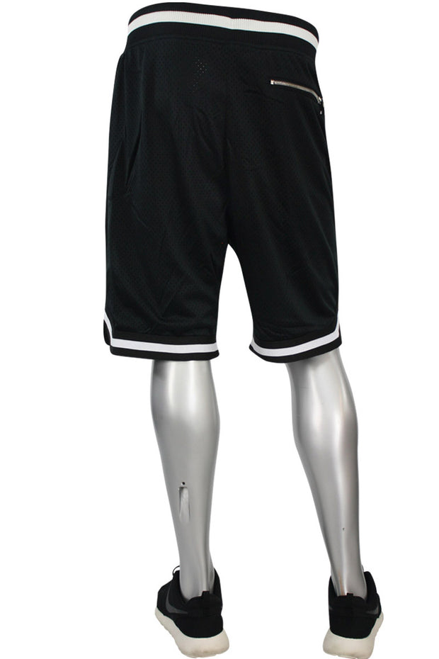 Poly Mesh Shorts Black - White (8289S)