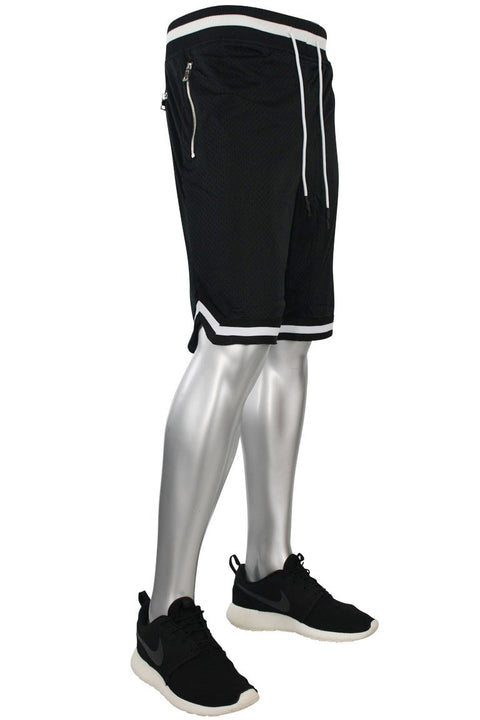 Jordan Craig Poly Mesh Shorts Black - White (8289S 22S) - Zamage