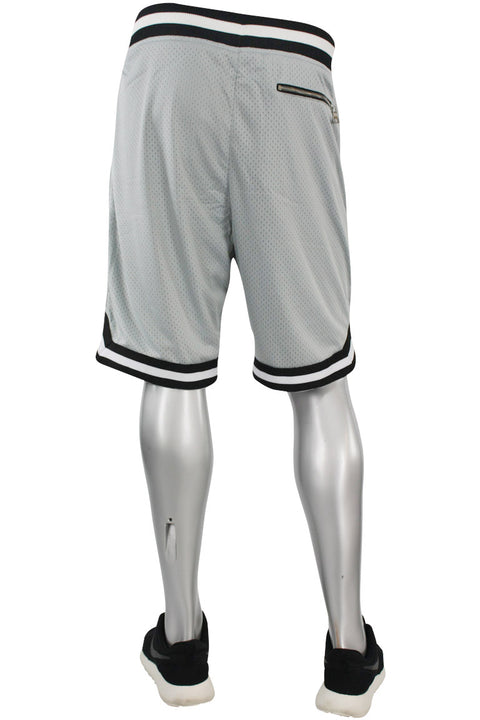 Jordan Craig Poly Mesh Shorts Grey - Black (8289S)