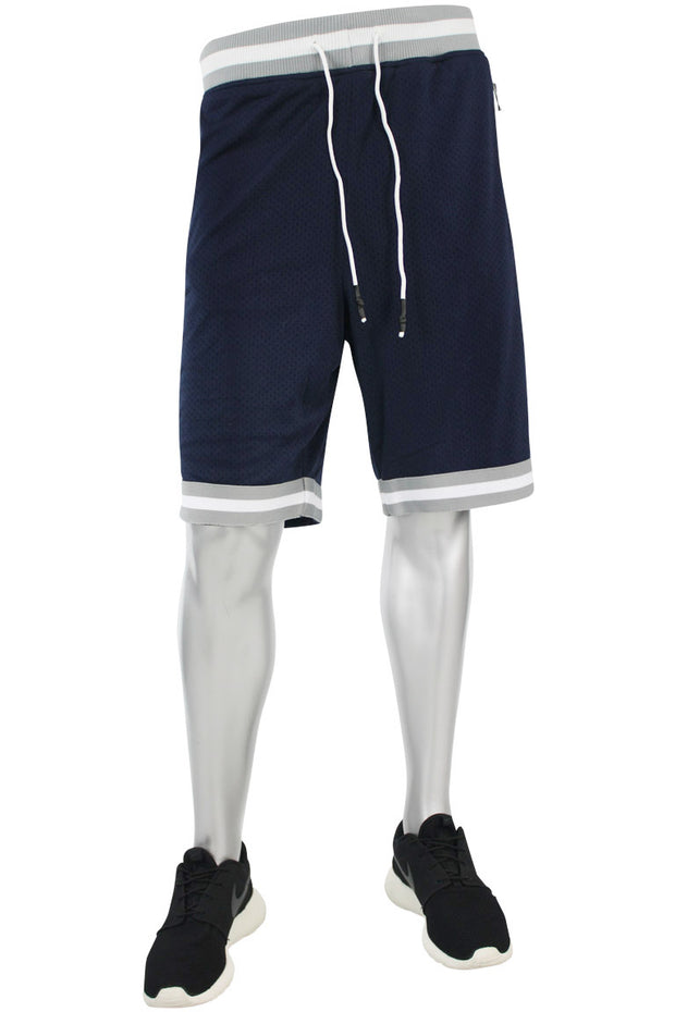 Poly Mesh Shorts Navy - Grey (8289S)