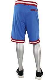 Jordan Craig Poly Mesh Shorts Royal - Red (8289S)