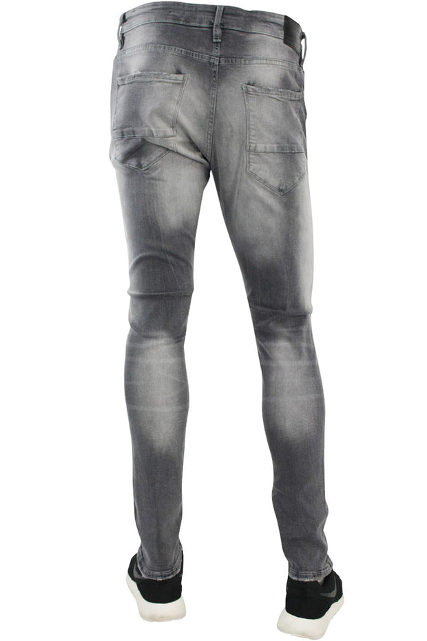 Jordan Craig Slit Knee Slim Fit Denim Cement Wash (JM3154 22S) - Zamage