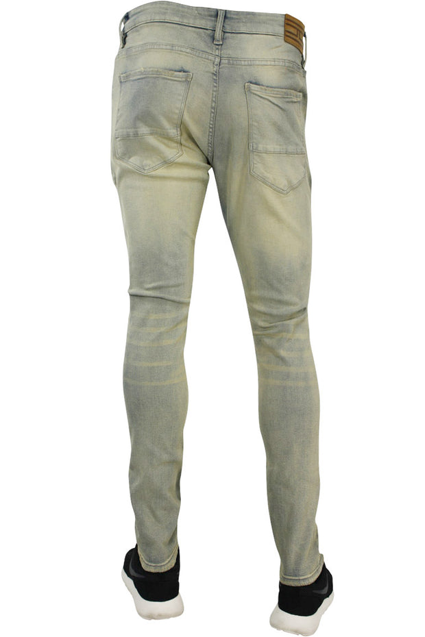 Jordan Craig Slit Knee Slim Fit Denim Ice Antique (JM3154 22S) - Zamage
