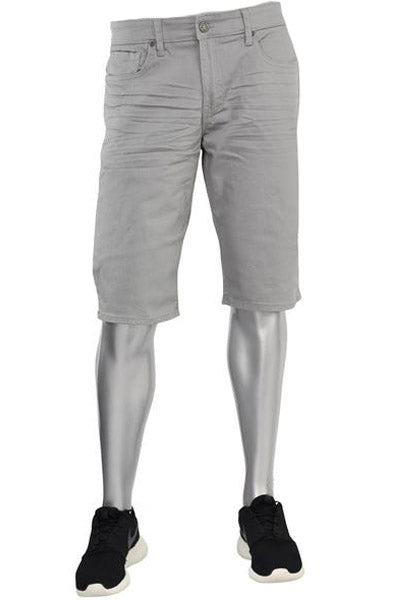 Jordan Craig Solid Denim Shorts Light Grey (J708S 22S)