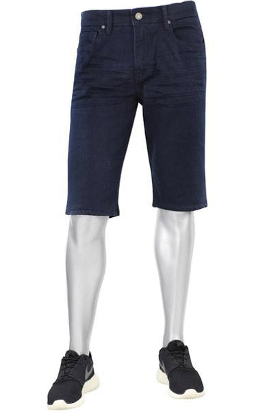 Jordan Craig Solid Denim Shorts Navy (J708S 22S) - Zamage