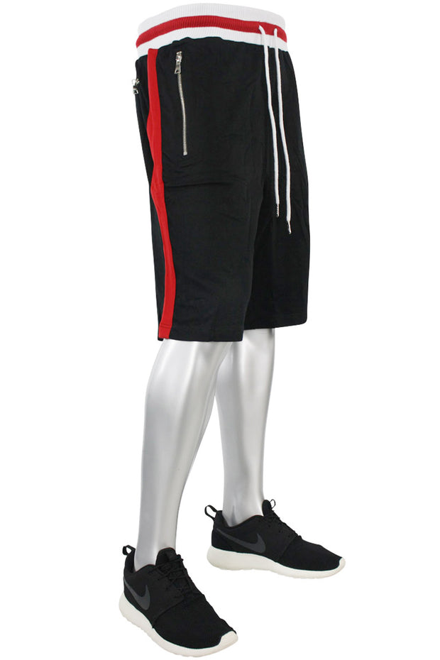 Jordan Craig Striped Track Shorts Black (8295S)