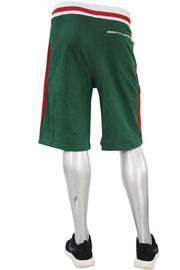 Striped Track Shorts Green (8295S)