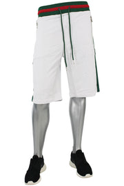 Striped Track Shorts White (8295S)