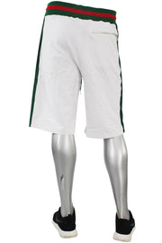 Jordan Craig Striped Track Shorts White (8295S)