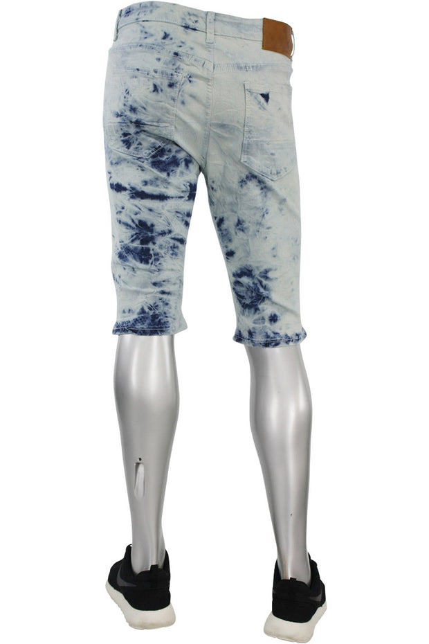 Moto Denim Shorts Tie Dye (M7118DA 22S) - Zamage