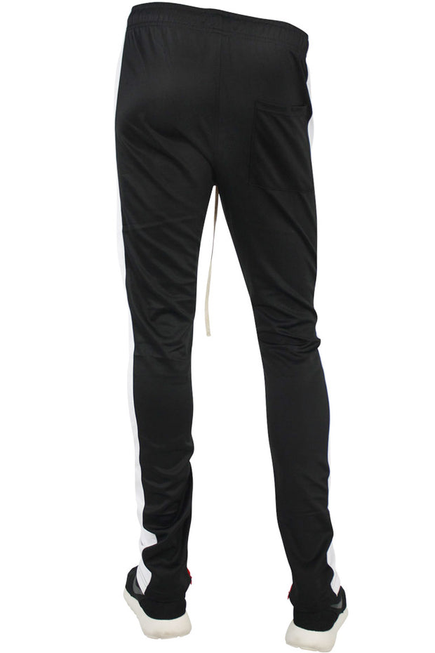 Side Stripe Color Blocked Track Pants Black - White - Red (FP815 22S)