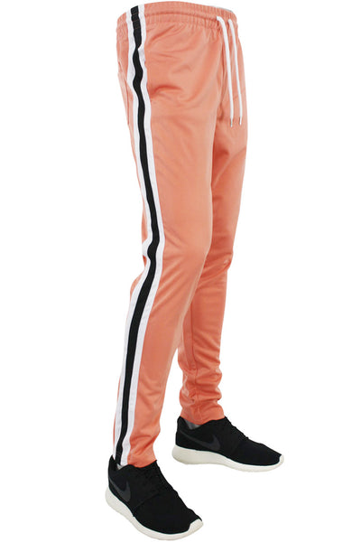 Side Stripe Pique Track Pants Pink - White - Black (1276)